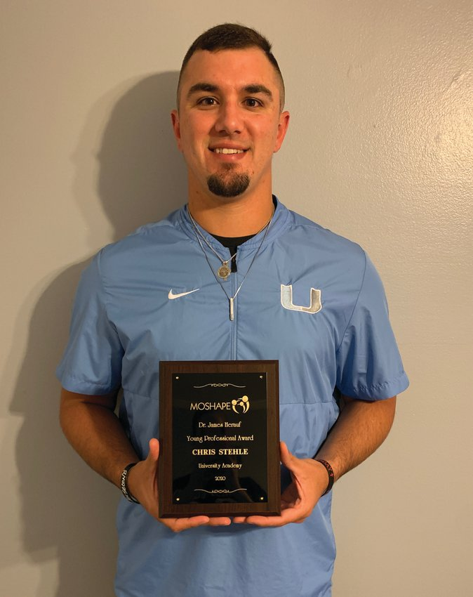 Chris Stehle, of Knob Noster, recently received the 2020 MOSHAPE Dr. James Herauf Young Professional Award.