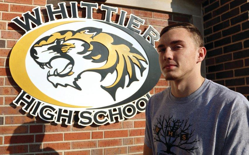 Alex Weisner, a December graduate of Whittier High School, plans to enlist in the Marines.
