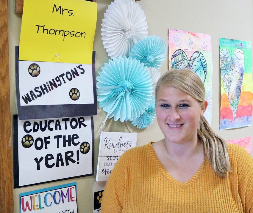 First grade teacher Brittney Thompson, who is in her eighth year working in the Sedalia 200 district, is the Sedalia Community Educators Association Outstanding Teacher for the 2020-21 school year.