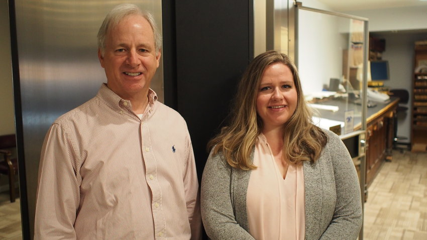 Landmann Title Director Jim Van Horn and President Stephanie Wooldridge are pictured Tuesday.