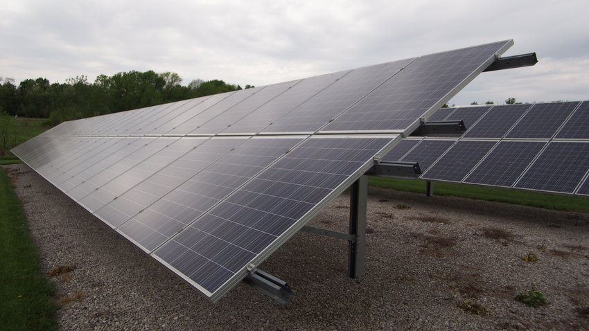 An MP Power Companies solar array was making electricity Friday morning on South Limit Court.