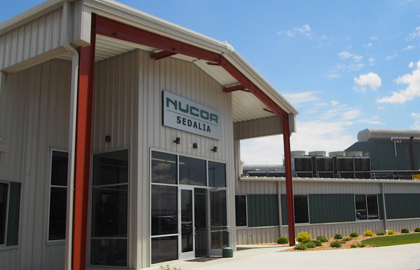 Nucor Steel in Sedalia, seen Friday, works to make employee safety its top priority.