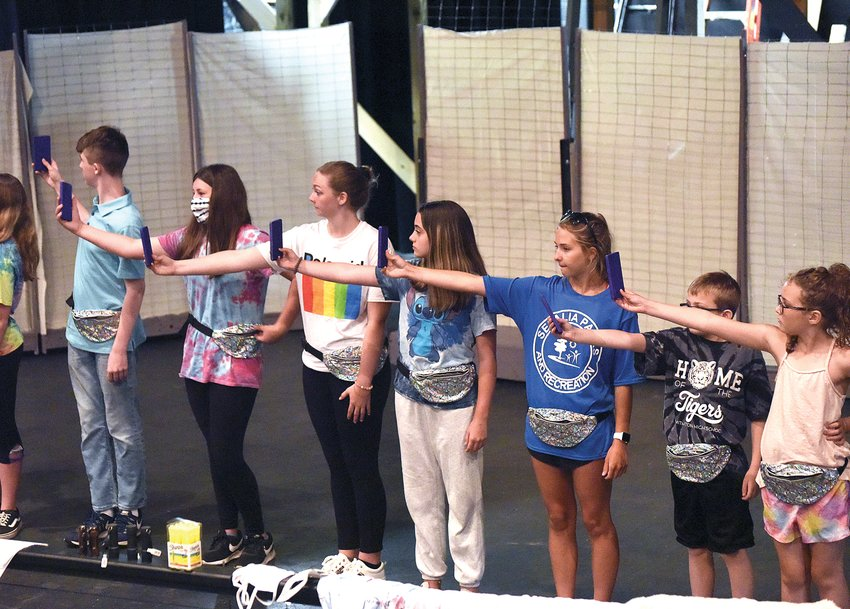 """Theatre students rehearse for the junior version of """"We Will Rock You, young@part!"""" this week. The musical will be performed in the Thompson Theatre at the Hayden Liberty Center on June 24, 25 and 26."""