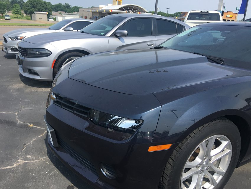 New cars are in short supply, like these seen at Bryant Motors Thursday. A semiconductor shortage and transportation problems are causing a ripple effect throughout the automotive industry.
