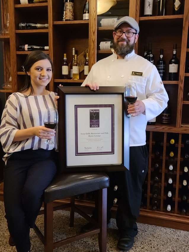 Ivory Grille Restaurant Executive Chef Chris Paszkiewicz and Ivory Grille Restaurant Food and Beverage Manager Maddelaine Waibel are pictured inside the restaurant.