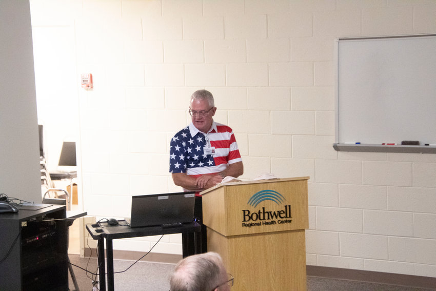 Dr. Doug Kiburz announces the launch of MentorTown USA during the Sedalia Chamber After Hours meeting Tuesday evening. MentorTown is a program that helps students get a jumpstart into career development and planning.