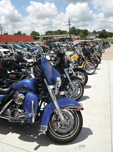 Motorcycles are lined up to celebrate Yeager's Cycle 60th birthday celebration in 2016. Yeager's Cycle plans to host its 65th birthday on Sept. 18. Owner Larry Yeager said the store usually hosts a birthday celebration every five years.
