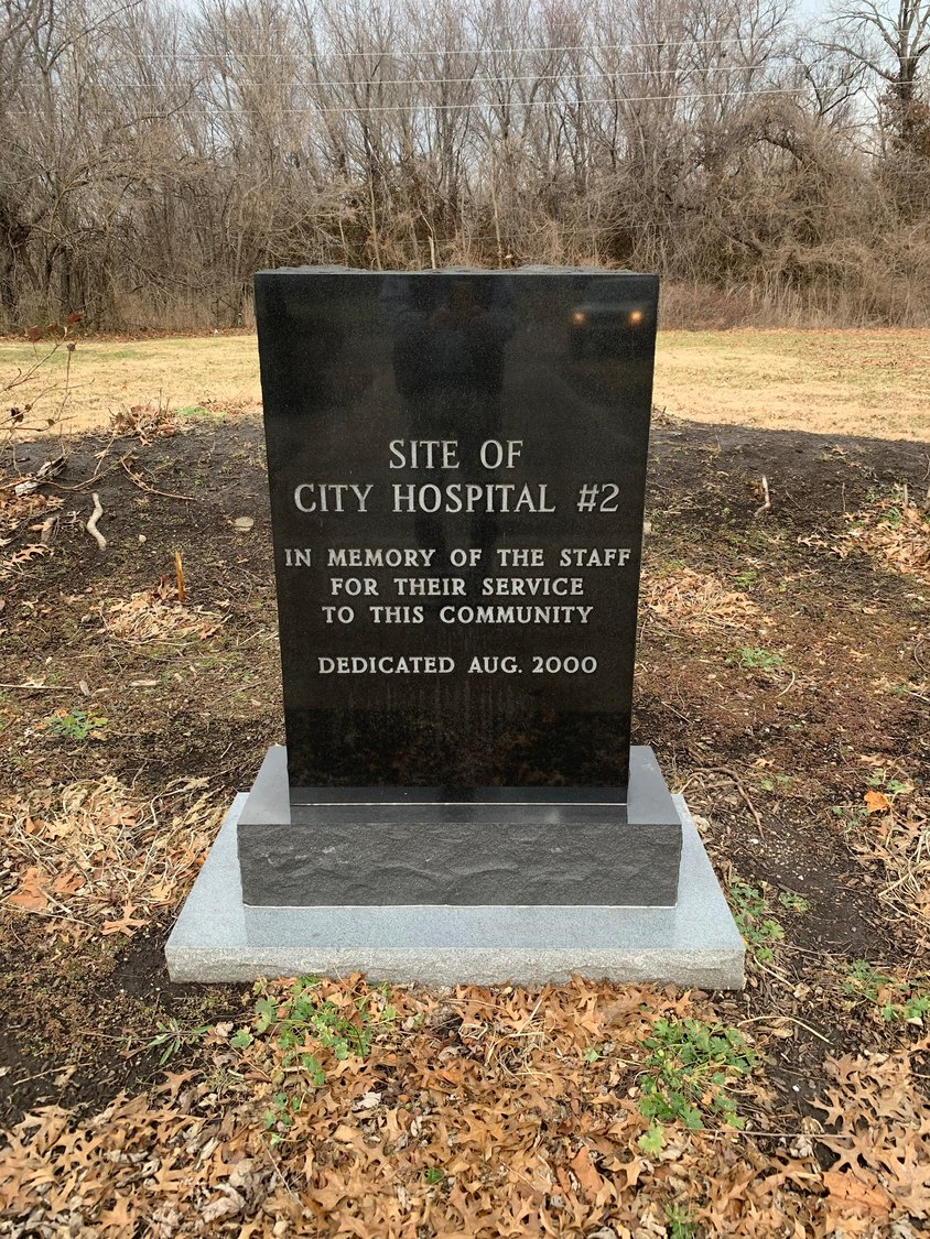 "After hospital integration happened in Sedalia around 1959, City Hospital #2 became a nursing home until it was demolished in 1996. A monument marks the hospital's site in Hubbard Park, and another monument honors Lauretta Emerson's ""role in better health care for Blacks in the 50s."""