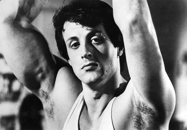 Sylvester Stallone in a scene from the iconic 1976 film 'Rocky', which won 3 Academy Awards: Best Picture, Director and Editing.