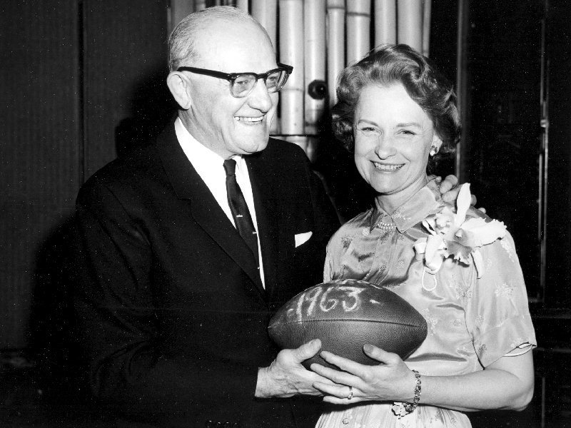 Virginia McCaskey, heir to the Chicago Bears, with her father George Halas who was team owner and founder.