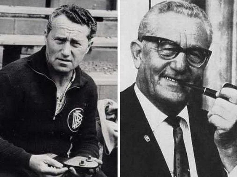 Adolf Dassler (left) and his brother Rudolf Dassler (right). Their bitter b4cad4b2ff1a
