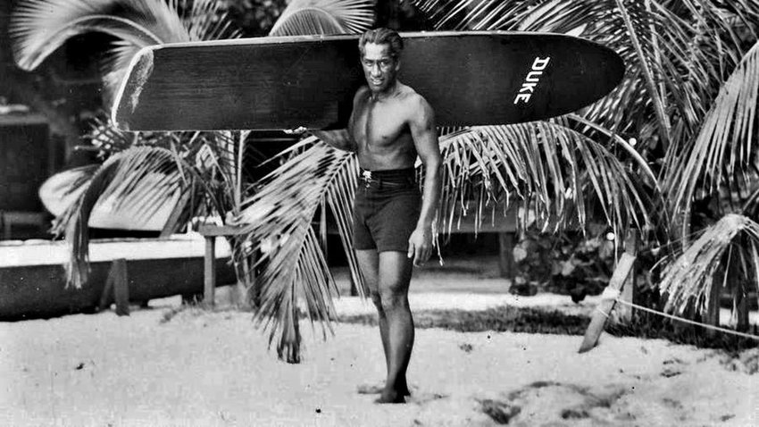 Duke Kahanamoku, surfing's first ambassador who pushed for the sport's inclusion in the Olympics.  His dream would finally come true a century later at the 2020 games in Tokyo, Japan.