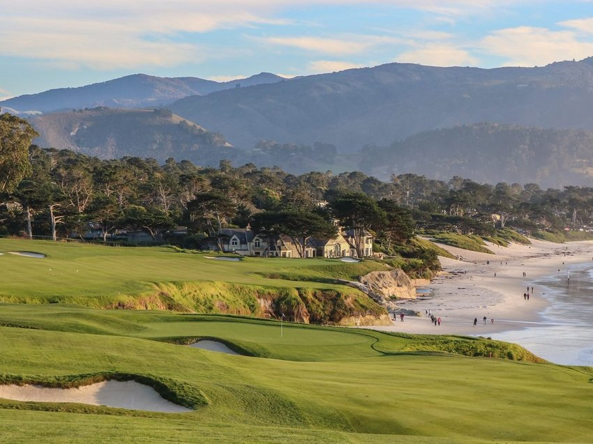 A view of the 9th hole at Pebble Beach.  Celebrating its 100th anniversary this summer, the famed golf links has witnessed as much corporate drama in its history as it has golf.