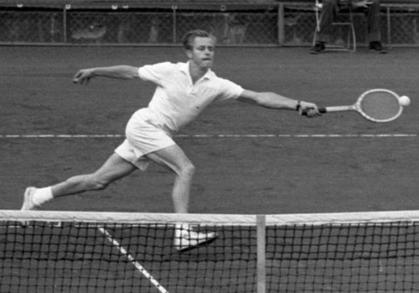 "Art ""Tappy"" Larsen, quirky tennis champion who won the U.S. Nationals in 1950 and was ranked #3 in the world.  His fun-loving, idiosyncratic behavior on and off the court riled the conservative tennis establishment of the day."