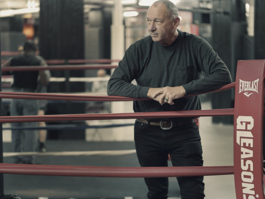 Owner Bruce Silverglade at Gleason's Gym, the oldest and most storied boxing gym in America.  A workout temple for prizefighters since 1937, Gleason's has trained  generations of world champions ranging from Muhammad Ali to Mike Tyson.
