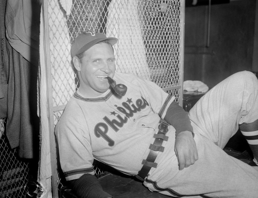 Ben Chapman, Philadelphia Phillies manager who hurled unrelenting racial slurs from the bench at MLB's first black player, Jackie Robinson. His tactics eventually backfired when the majority of fans and Jackie's teammates rallied around him, solidifying the team and accepting him as a true Dodger.