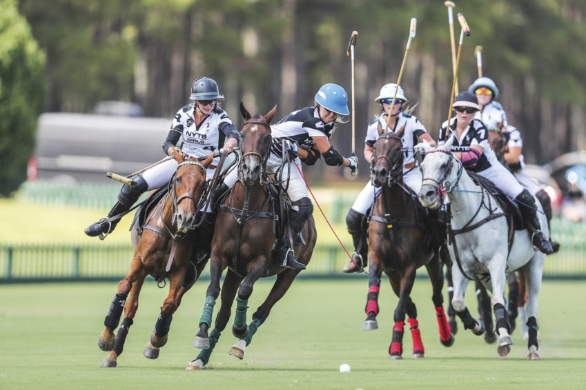 The National Youth Tournament Series Girls Championship at New Bridge Polo & Country Club in Aiken, South Carolina. The 'Sport of Kings' has diversified and become more inclusive over the years. Today, polo is offered as an athletic program at 41 different colleges across the country.