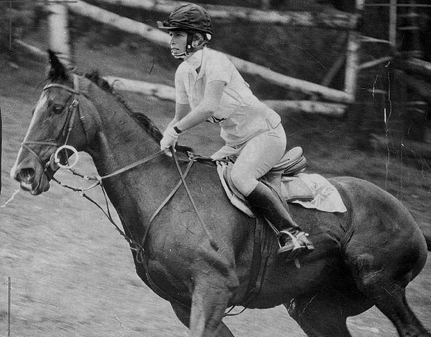 Princess Anne at the equestrian event of the 1976 Olympics. The only daughter of Queen Elizabeth II and the late Prince Philip, Anne was the first British royal to compete in the Olympics.