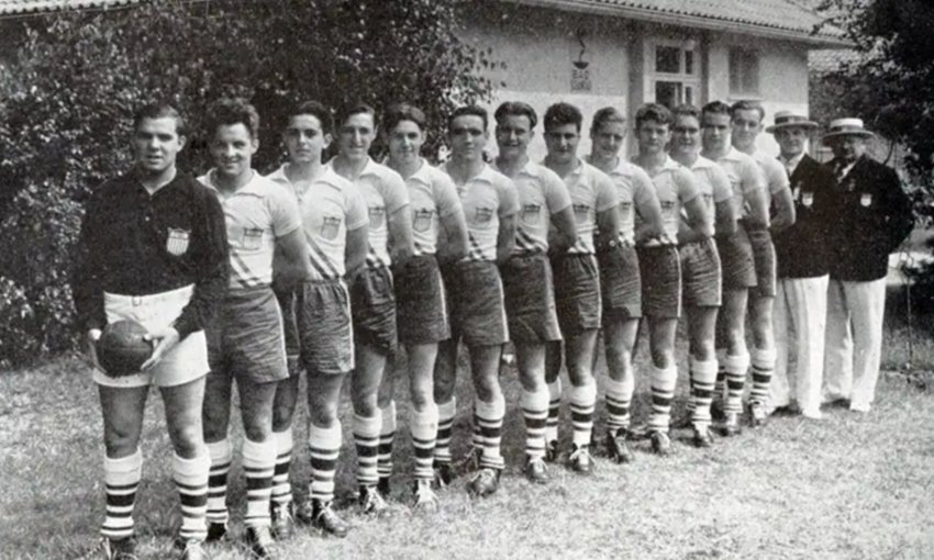The U.S Team Handball squad at the 1936 Olympics. The Americans placed last in a field of 6 nations at the game's Olympic debut. Despite its large following in Europe, the game has remained underdeveloped at home.