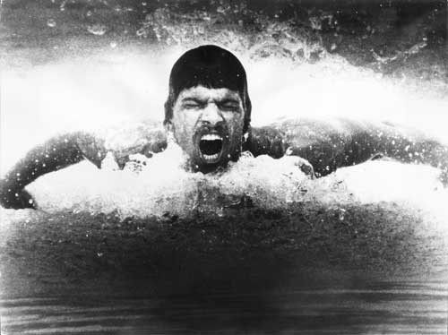 With 7 gold medals, Mark Spitz held the Olympic record for 36 years until surpassed by Michael Phelps in 2008.