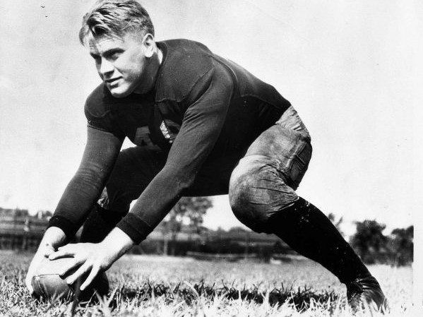 Gerald Ford: The 38th President of the U.S. played 4 years with the Michigan Wolverines and was voted MVP his senior year.