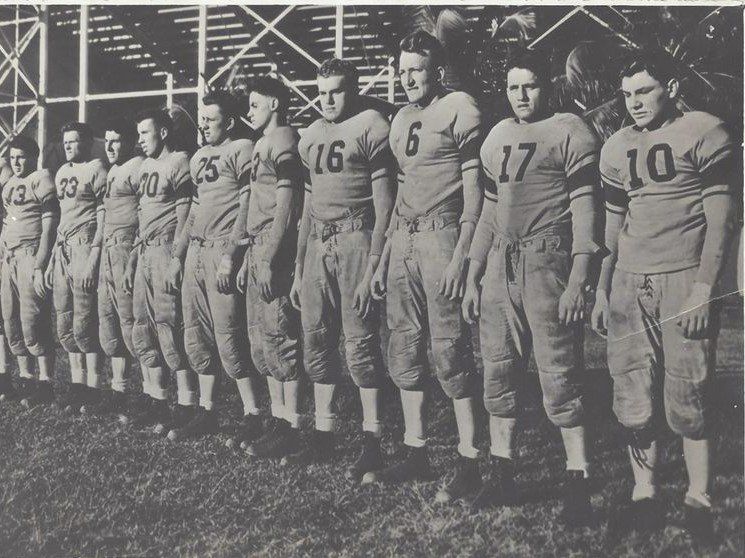 Winners of the 1939 National Sports Foundation championship, Garfield High School Boilermakers (NJ)
