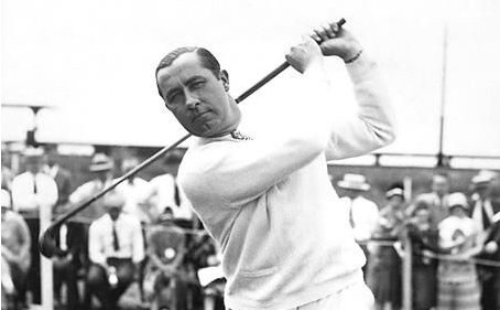 Walter Hagen, the first full-time professional golfer and arguably the first millionaire sportsman.