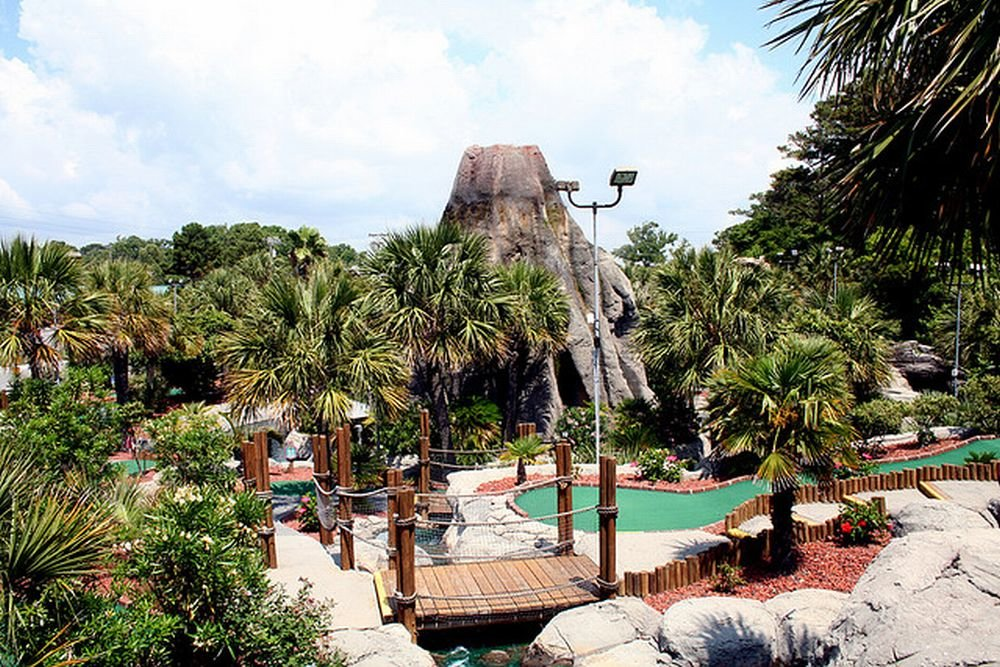 The Hawaiian Rumble minigolf in Myrtle Beach, South Carolina. The course is home to the Masters championship of the US Pro Mini Golf Association (USPMGA), which is celebrating its 25th anniversary this year.