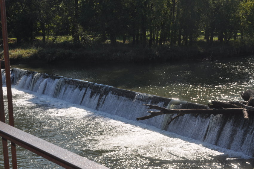 Pictured is the roaring waters by the Caplinger Mills historic bridge.
