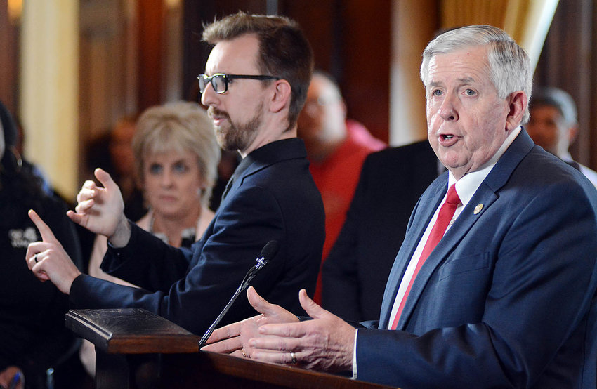 Missouri Governor Mike Parson issued a State of Emergency declaration Friday evening from his Capitol office in Jefferson City. He said his declaration by executive order was not intended to control how public schools reacted to the potential threat of the virus, but, rather, would allow individual district administrations to make their own informed decisions based on local health depart recommendations. As of 2:30 p.m. Tuesday, 432 of 555 Missouri public school districts or charter schools have closed or will soon close, according to the governor's office.