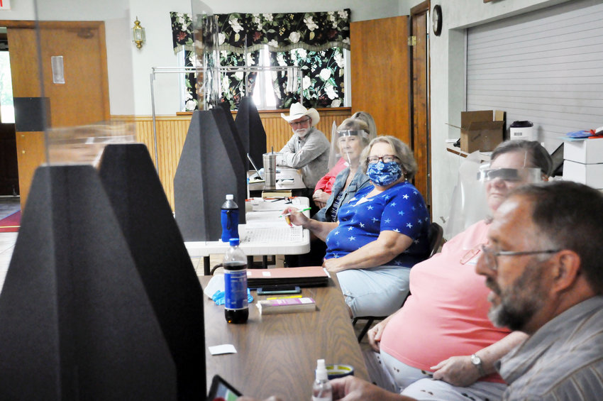 Election judges were well-prepared to provide a safe polling place for Gerald voters Tuesday.