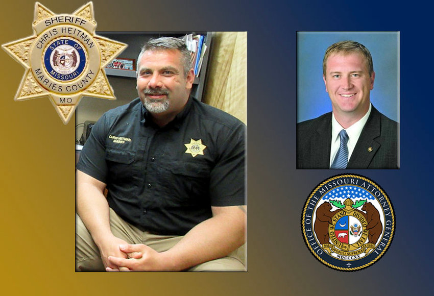 Maries County Sheriff Chris Heitman (at left) and Missouri Attorney General (right).
