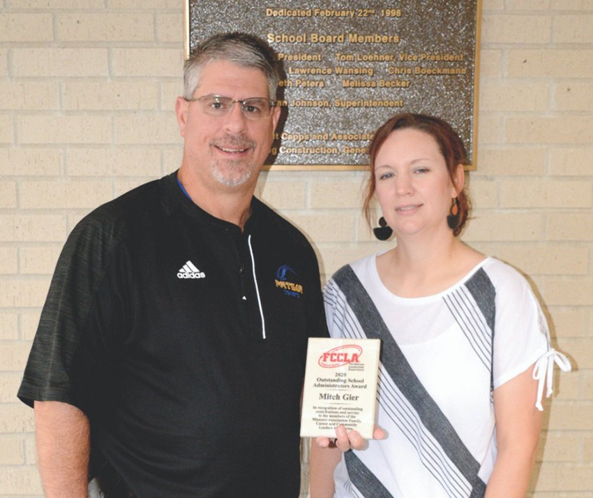 Fatima Assistant Principal Mitch Gier earned FCCLA Administrator of the Year honors from the state organization, and Erica Libbert earned an Advisor in Excellence Award from the state organization, both at the conclusion of the 2019-20 school year. This is the second time Libbert has received the award.