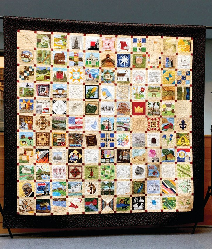 The Missouri Bicentennial Quilt will be on display from 9 a.m. to 5 p.m. March 18-20, and from 1 p.m. to 4 p.m. March 21 at both the Cultural Heritage Center and Zewicki House Museum.