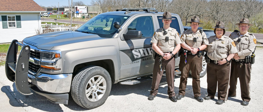 Maries County Sheriff's Office has hired four new deputies (above, in no particular order): Quinten Moore, Tiffany Herndon, Shannon Fammon and Jeff Younger.