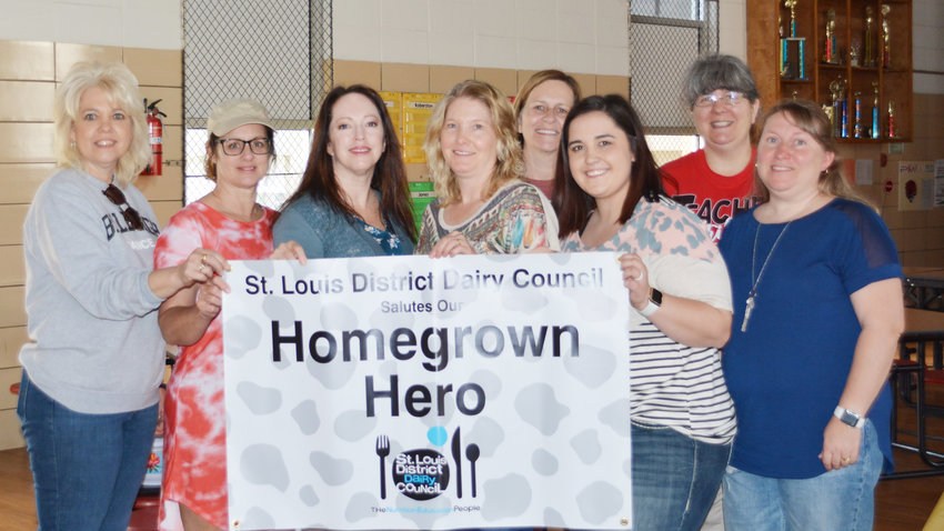Maries R-2 Belle Elementary Title One Teacher Sunshine Shanks was nominated and awarded the Homegrown Hero Award from the St. Louis Dairy Council. Representative Amanda Marsh was at the school on Monday to present the award to Shanks. Shanks was the only teacher in the state who received the award.