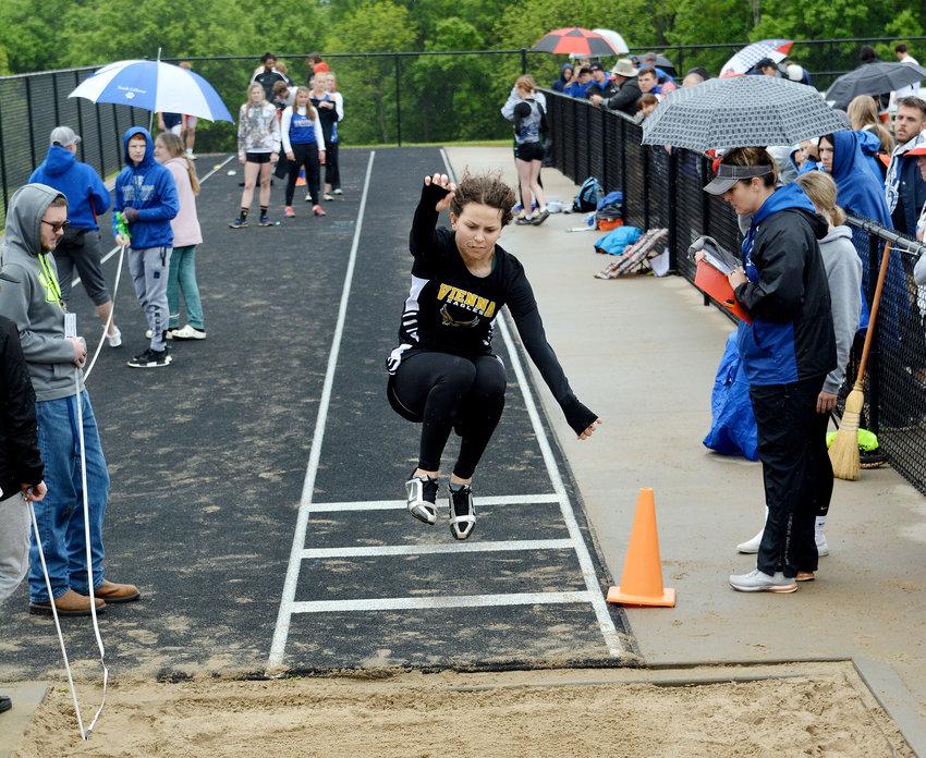 Andrea Novak won the girls long jump.