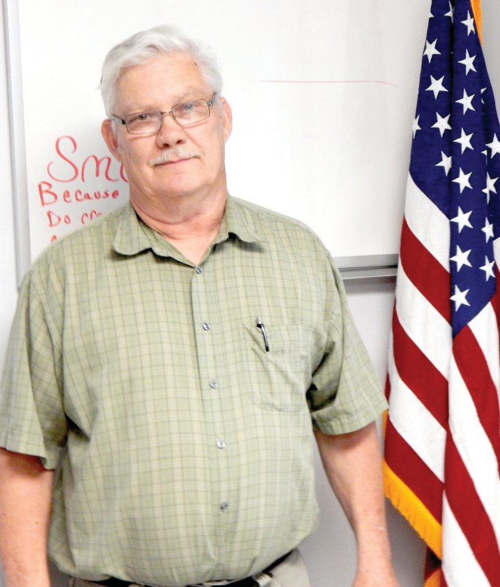 Former Chamois Mayor Jim Wright rejoined the board as an alderman after taking the oath of office at last Thursday's meeting. He will fill the one-year seat that Rob Skaggs had temporarily taken.