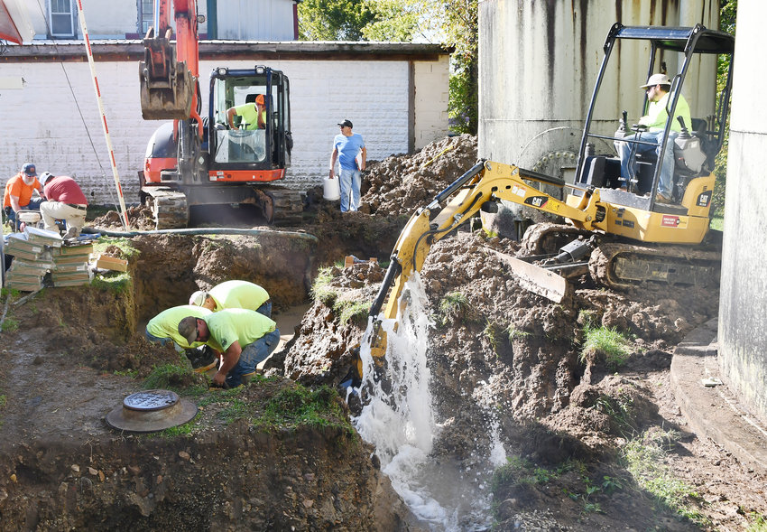 A bland water project began Friday which will replace 15,000 linear feet of water lines, 21 hydrants and new radio-read meters.