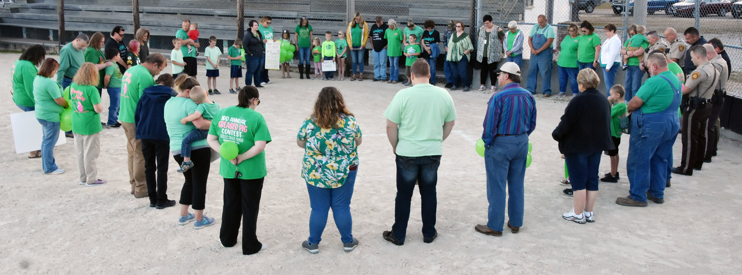 Supporters of Mindy Jarvis met for a group prayer Sept. 30 at Belle City Park.