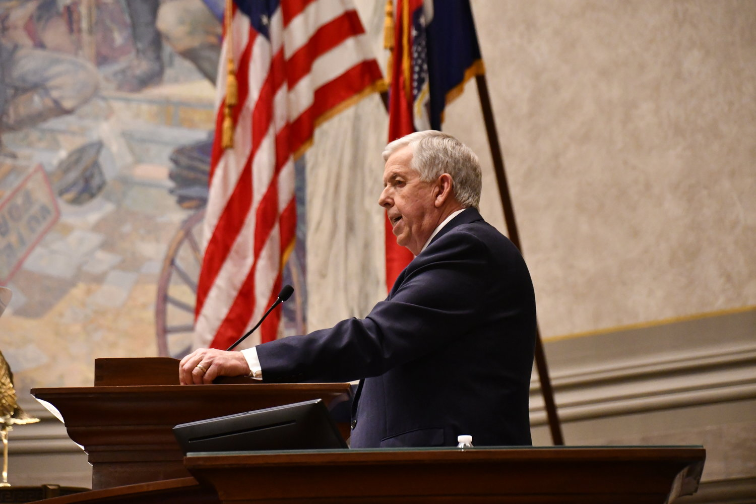 Missouri Governor Mike Parson delivers the State of the State address Jan. 27.