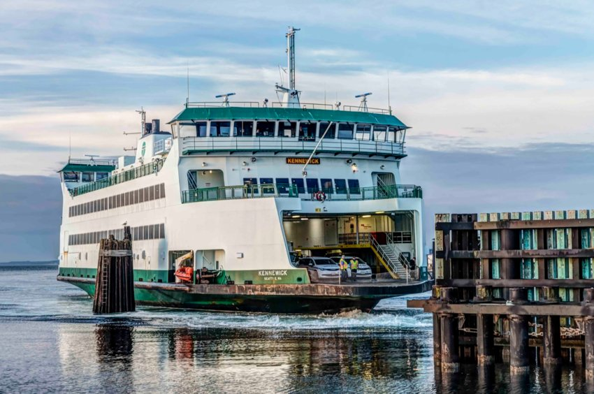 Washington State Ferry Arrival at Coupeville. Photo by Andy Porter Images.