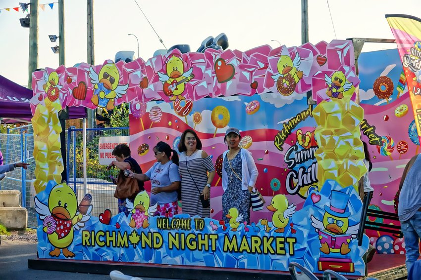 Richmond Night Market welcome. Photo by Rick Lawler.