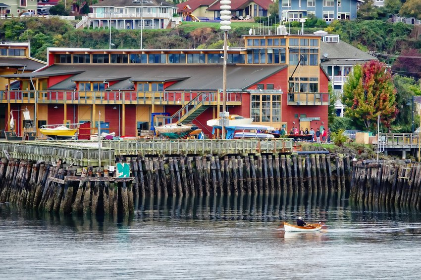 Rowing in Port Townsend. Photo by Rick Lawler.