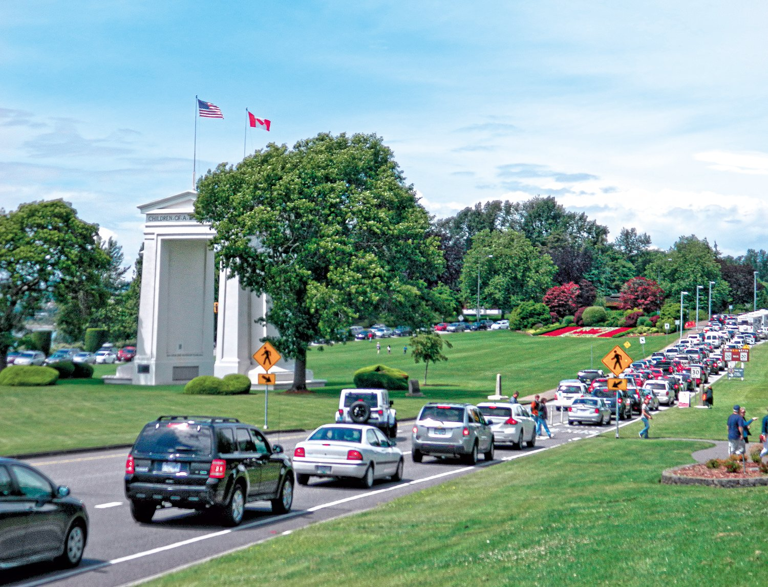 The Peace Arch Crossing